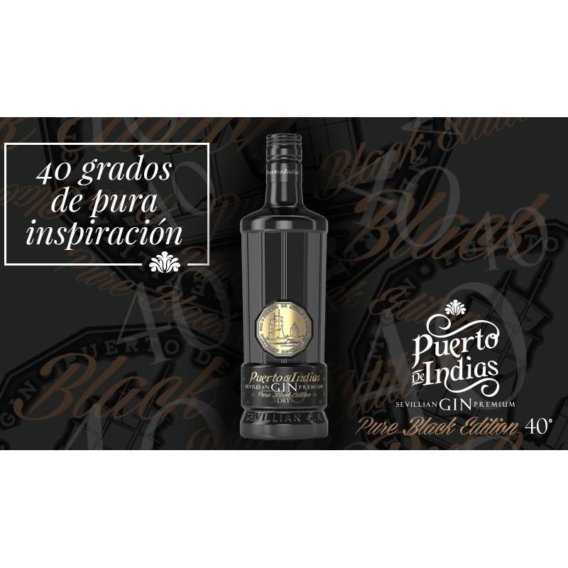 Puerto de Indias Gin Pure Black Edition 0.70 cl