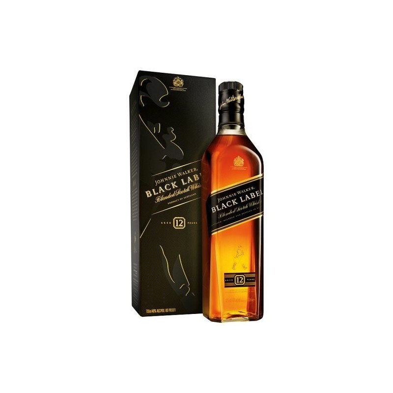 Whisky Johnnie Walker E.Negra 70cl con estuche