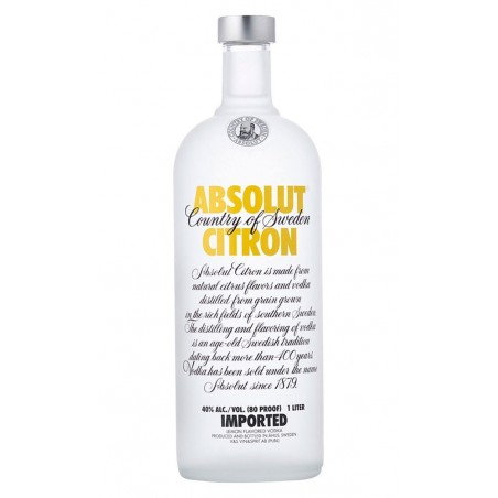 Vodka Absolut Citron 0,70cl. 40º