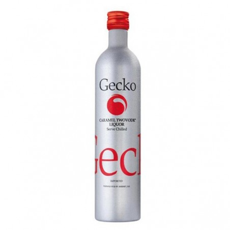 Vodka Gecko caramelo 0,70 cl. 30º